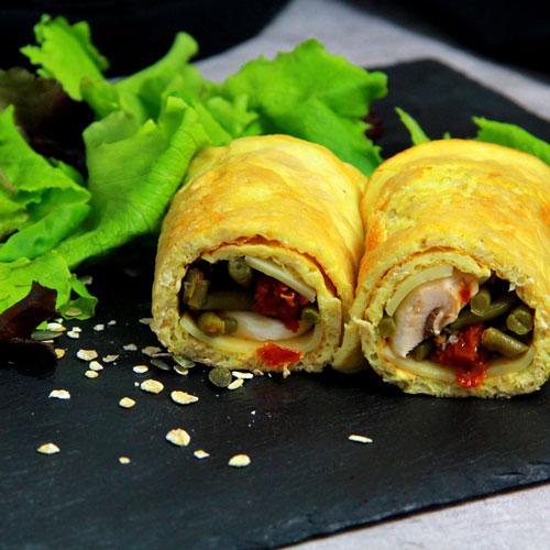 Wrap - Omellette aux légumes - Healthy - IG bas