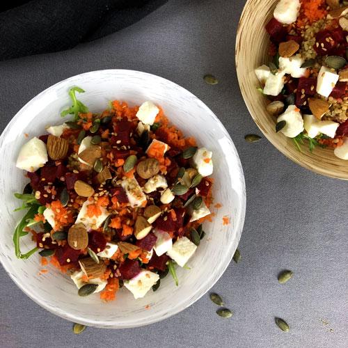 Salade Quinoa Carottes et Betteraves