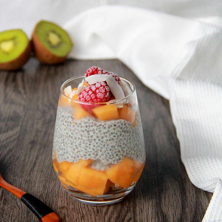 Chia pudding au melon