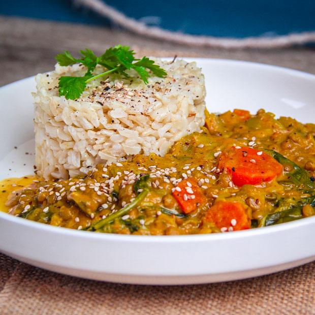 Dalh de lentilles et riz au jasmin