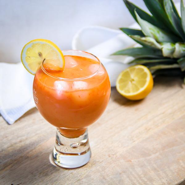 Jus carotte ananas et gingembre