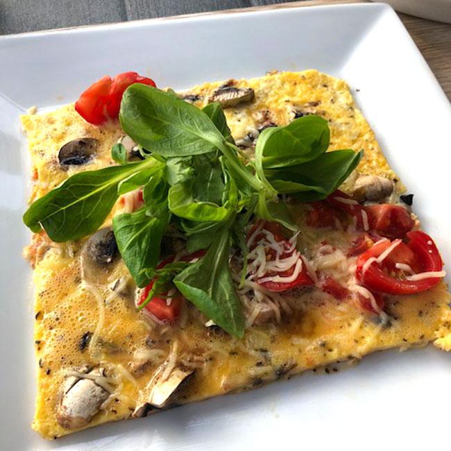 Omelette tomate champignons