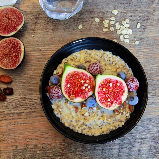 Overnight porridge aux figues