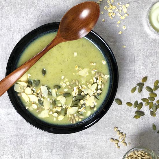 Velouté vert aux choux et brocoli